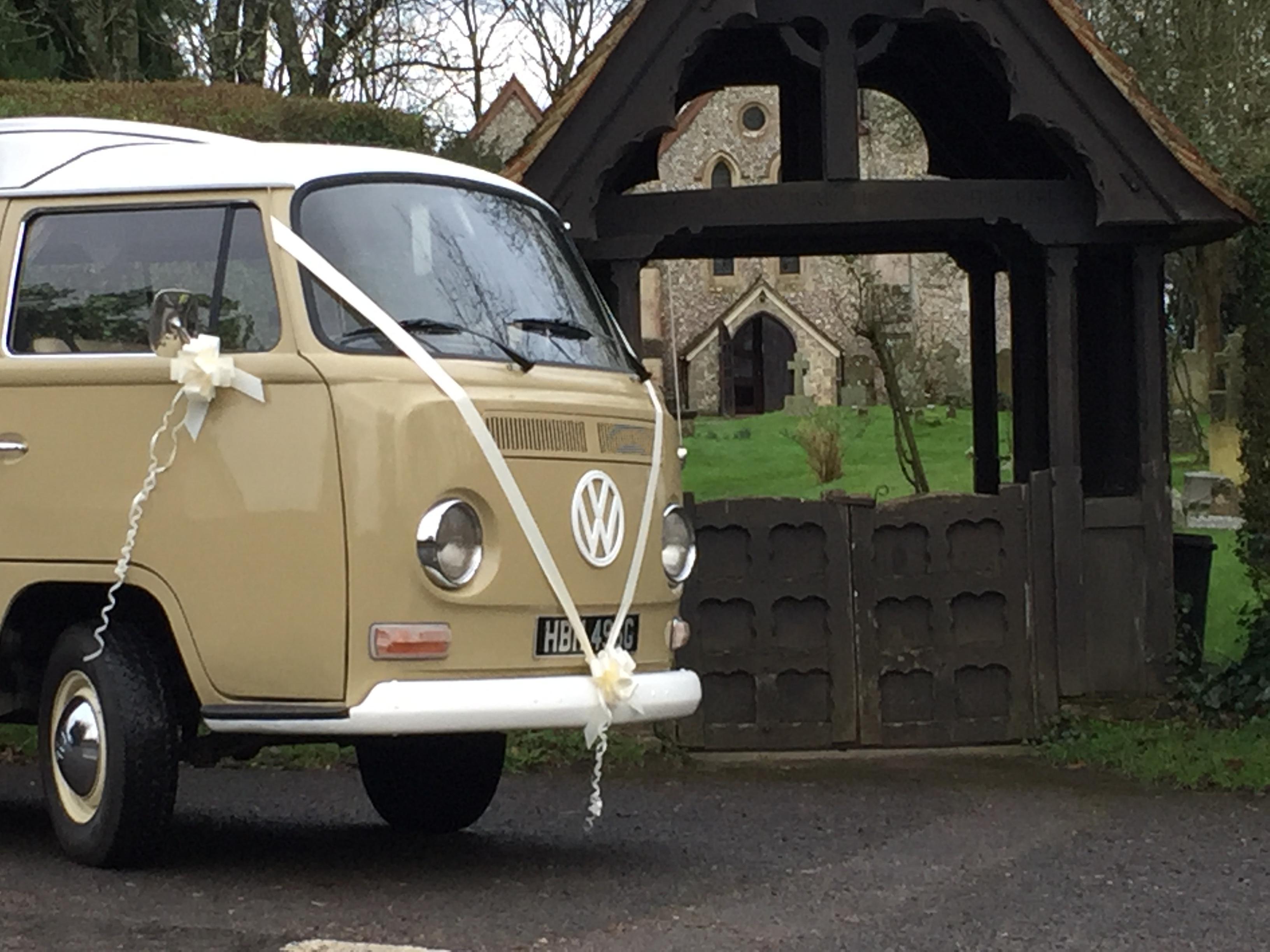 Sparky Vw Campervan Wedding Car Hire Covering Hampshire Surrey