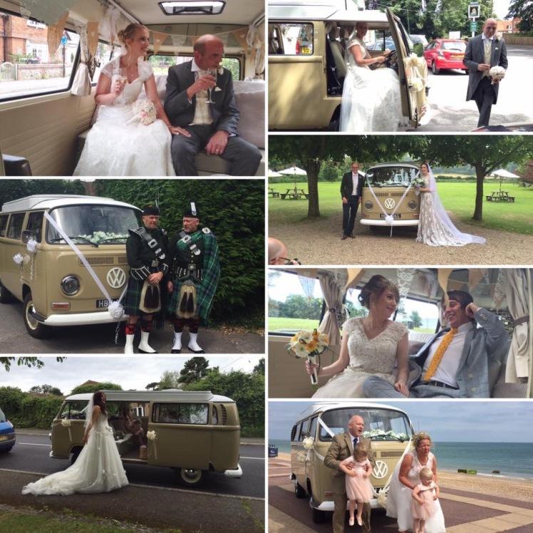 choose a vw camper for your wedding transport
